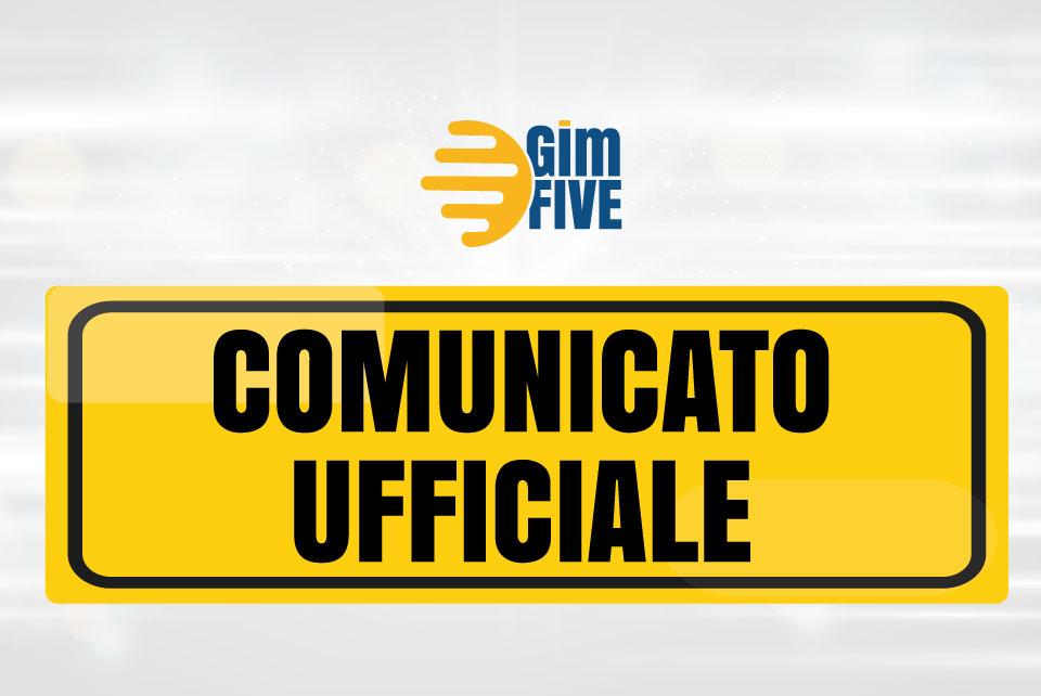 Comunicato-Ufficiale GimFIVE San Sisto